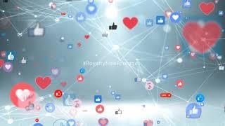 social media likes - hearts background animation   Social Media Network Background   #socialmedia