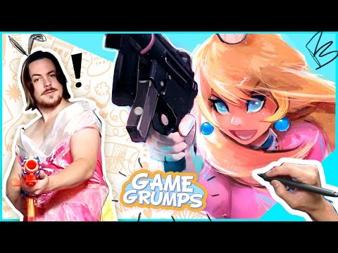 TURNING GAME GRUMPS INTO PRINCESS PEACH AND DAISY!