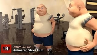 Funny CGI 3d Animated Short Film ** AUTO WORKOUT ** Animation by Si Yeun Park & Sheridan College