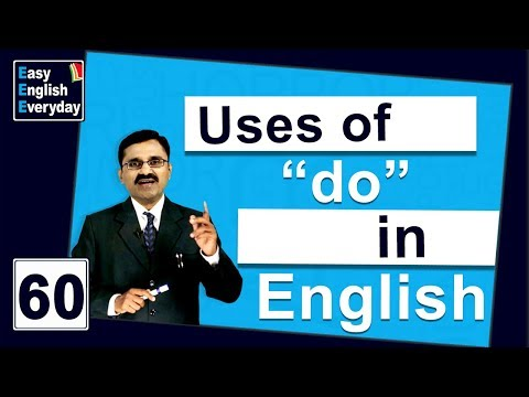 """English classes online free   How to use """"do"""" in a sentence   How to Speak English with Confidence"""