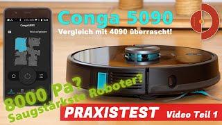 Cecotec Conga 5090 Test - Vergleich mit Conga 4090 - Teil 1 [ Saugroboter Test]