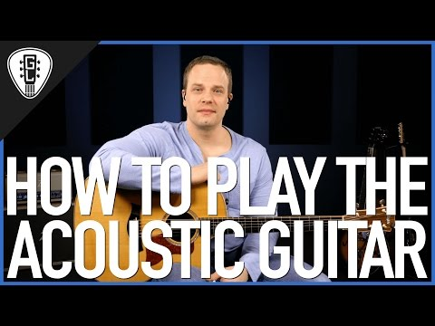 How To Play Acoustic Guitar - First Guitar Lesson