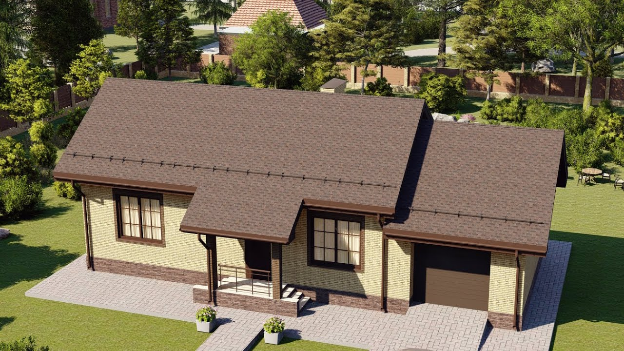 Проект дома 067-A, Площадь дома: 67 м2, Размер дома:  17,3x7,1 м