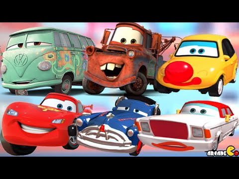 Cars Daredevil Garage - Disney Pixar Cars Fillmore And Mater With Sign Unlocked!