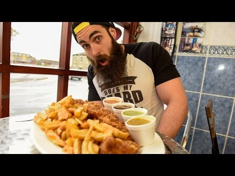 Competitive Eater Takes On The Whale - 32oz Fish & Chips