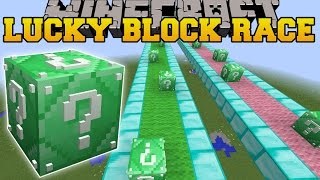 Minecraft: INSANE EMERALD LUCKY BLOCK RACE - Lucky Block Mod - Modded Mini-Game