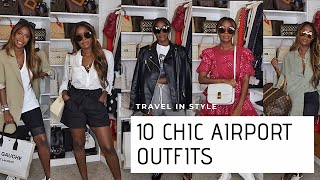 10 CHIC AIRPORT OUTFITS 2019   STYLISH TRAVEL LOOKS   HIGHLOWLUXXE