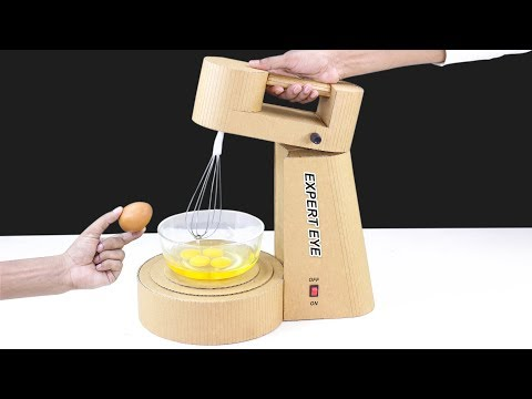 How To Make Mini Stand Mixer Machine From Cardboard! DIY Mixer Machine