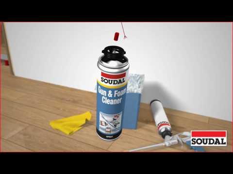 Soudal zeigt: Reinigung & Pflege der PU Schaumpistole