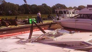 Boot slippen, versenken und bergen an der Oder - Boat slippen und Fails