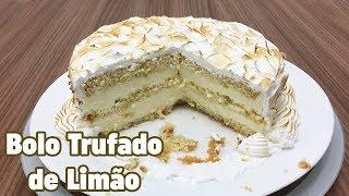 BOLO TRUFADO DE LIMÃO - RECEITA