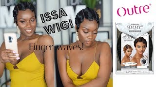OUTRE DUBY FINGER WAVE LACE FRONT WIG! FINGER WAVE WIG REVIEW