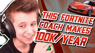 This fortnite coach makes 100k/year doing it