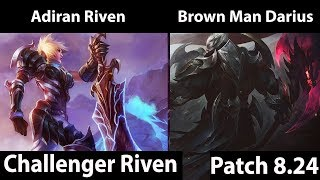 [ Adrian Riven ] Riven vs Darius [ Brown Man Darius ] Top  - Win games on challenger