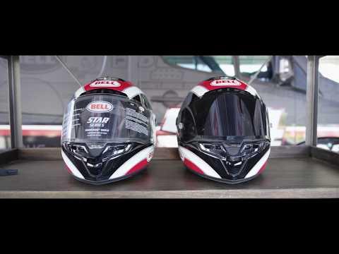 121153ae AOMC.mx: 2018 Bell Race Star Tracer Helmet (Matte Black/Grey)