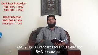 ANSI/OSHAStandardsforPPEsSelectionbyAskmaaz
