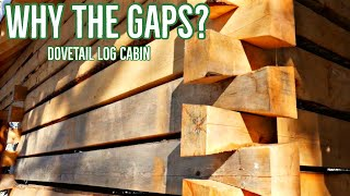Dovetail Log Cabin - Why The Gaps?