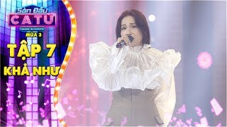 Sàn đấu ca từ 3   Tập 7: Bé Mèo Khả Như khiến fans vỡ òa khi hát live Không phải em đúng không