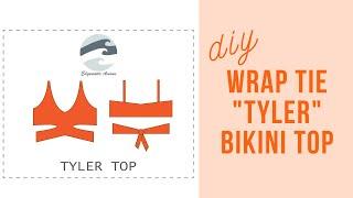 DIY Wrap Tie Acacia Inspired Bikini Top | Tyler Top | Edgewater Avenue