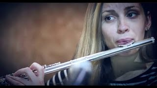 Sanda Masic records flute on 'Elegy #2 Testament'