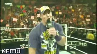 WWE  John Cena's Funny Rap to The Rock on RAW