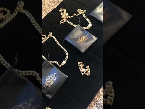 Harlembling Cuban Bracelets & Chains *1ct VVS Lab Diamond Clasps*