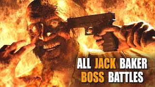 RESIDENT EVIL 7   Ethan Vs Jack | All Jack Baker Boss Battles Compilation (RE7)
