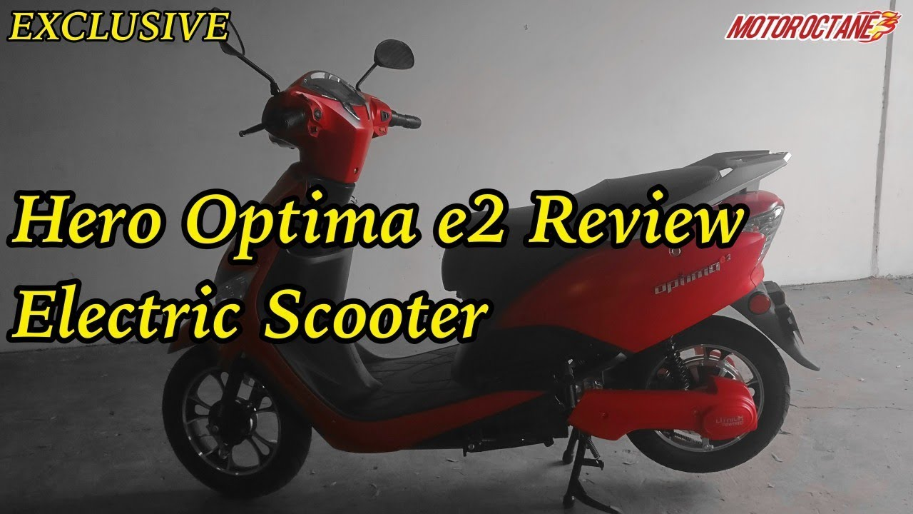 Motoroctane Youtube Video - Hero Optima e2 Review - Rs 36,000 Electric Scooter in Hindi | Nexon AMT spotted | MotorOctane