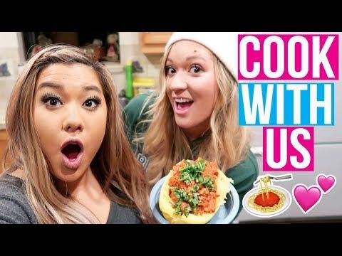 COOKING WITH REMI & ALISHA!! Vlogmas Day 2!
