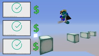 making minecraft players parkour for money