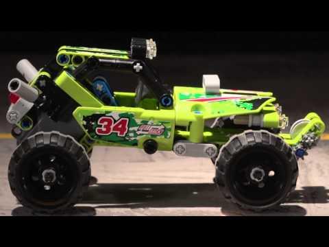 Конструктор DECOOL Technica автомобиль Багги «DESERT» с инерционным механизмом 3414 (Аналог LEGO Technic 42027), 148 деталей