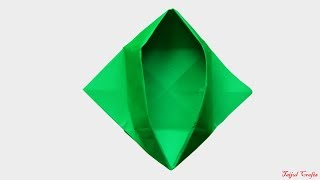 How To Make A Paper Bowl | Origami Color Dish