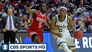 """Guard play is gonna be key"" - Tim Doyle  | Michigan ST vs Bradley | March Madness | CBS Sports HQ"