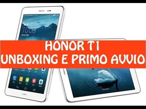 Unboxing Honor T1, Tablet Android Low Cost