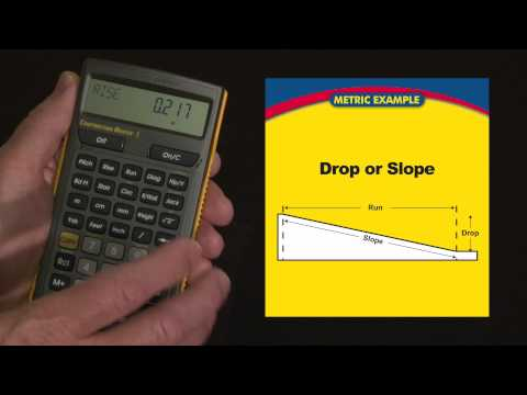 Construction Master 5 - Drop or Slope Calculations