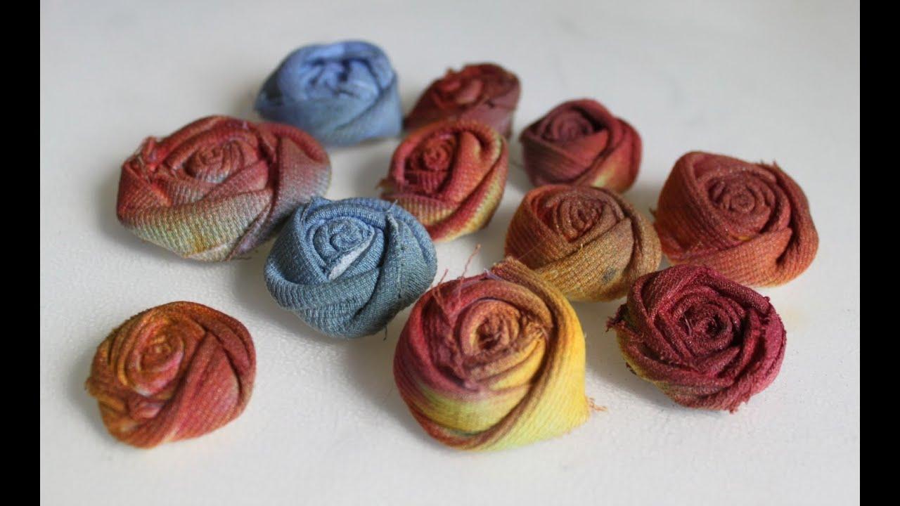 ROSA DI STOFFA ♥ Roselline colorate con vecchi pantaloni ♥ Riciclo Creativo