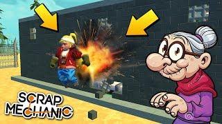 БАБА ЗИНА СБЕГАЕТ ИЗ ТЮРЬМЫ !!! РЕАЛЬНАЯ ЖИЗНЬ в Scrap Mechanic !!!