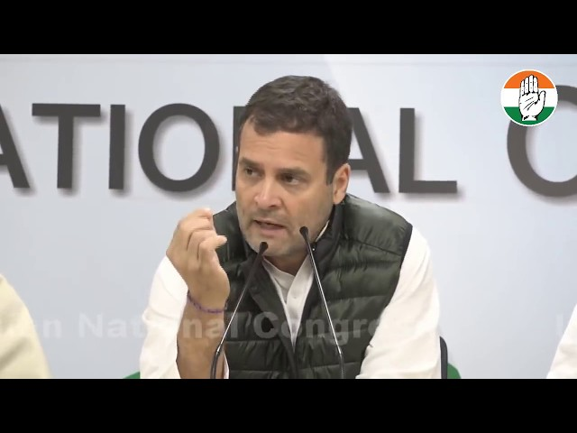 WATCH : Former PM Dr. Manmohan Singh and CP Rahul Gandhi address media on terror attacks in Pulwama