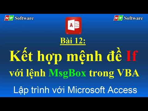 Bài 12: Kết hợp hàm if với msgbox trong vba access