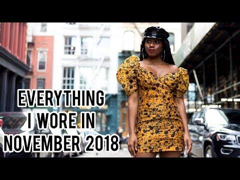 Everything I Wore in November 2018 || MONROE STEELE