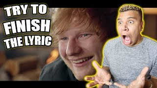 TRY TO FINISH THE LYRIC!! (IMPOSSIBLE CHALLENGE)