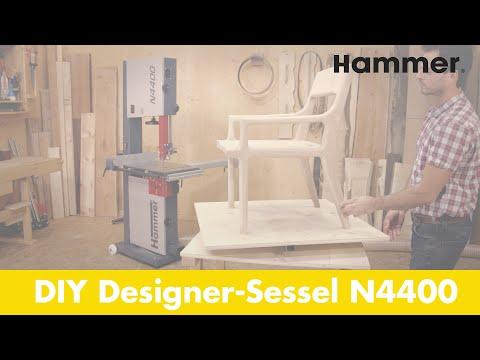 DIY Designer-Sessel, produziert mit der HAMMER® N4400 Bandsäge