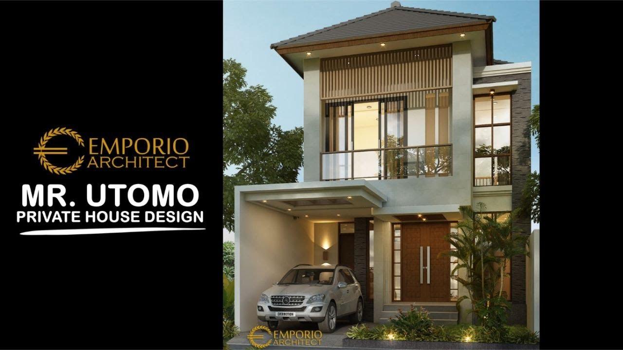 Video 3D Desain Rumah Modern 2 Lantai Bapak Utomo di Jakarta