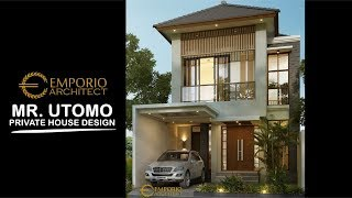 Video Mr. Utomo Modern House 2 Floors Design - Jakarta