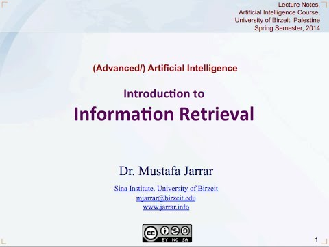 jarrar introduction to information retrieval part 5 5