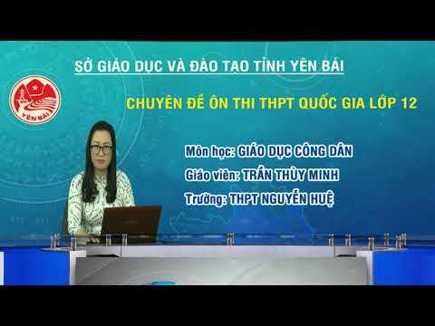 Ôn thi THPT QG môn GDCD, chủ đề: Những vấn đề chung về pháp luật