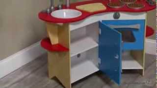 Melissa and Doug Cook's Corner Wooden Kitchen - Product Review Video