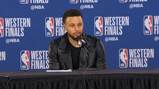 Steph Curry postgame reaction   Warriors vs Blazers Game 4   2019 NBA Playoffs