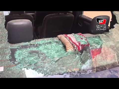 «دماء وسيارت مهشمة».. أثار الهجوم الإرهابي علي كنيسة حلوان