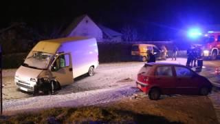 Zderzenie trzech samochodów w Krościenku Wyżnym